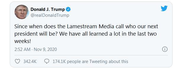 特朗普:何时由媒体宣布下任总统?