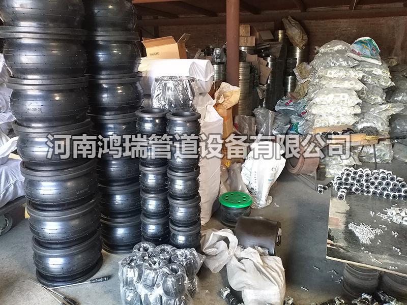 橡胶接头软连接仓库河南鸿瑞管道设备有限公司