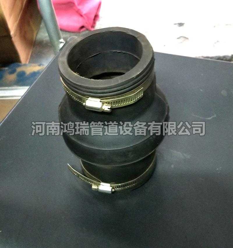 不锈钢卡箍铸铁管与PVC排水管接头专用管箍管束带橡胶圈管接抱箍